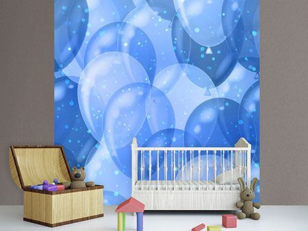 Photo Wallpaper Blue Balloons