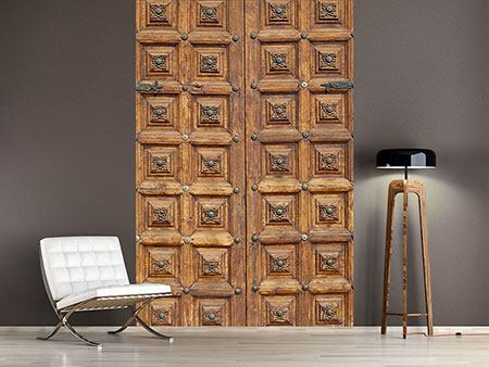 Photo Wallpaper Antique Wooden Door
